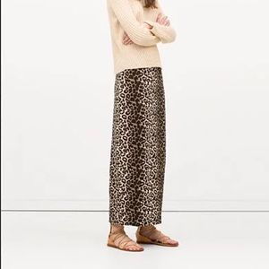 -Zara-Cheetah Print Straight Fit Maxi Skirt